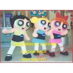 The Power Girls Mascot Costume
