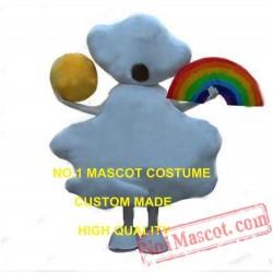 New Rainbow Sunshine Cloud Mascot Costume