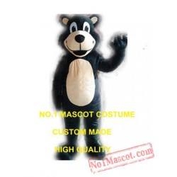 Happy Black Bear Mascot Costume