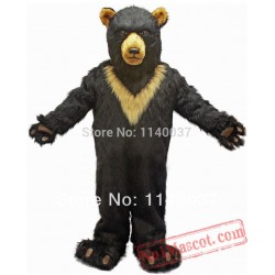 Burly Black Bear Mascot Costume