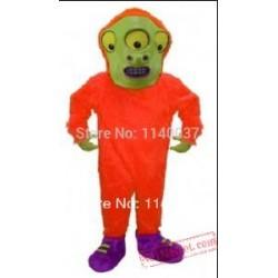 Toon Alien Mascot Cartoon Martian Costume