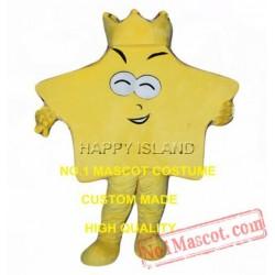 Funny Yellow King Star Mascot Costume