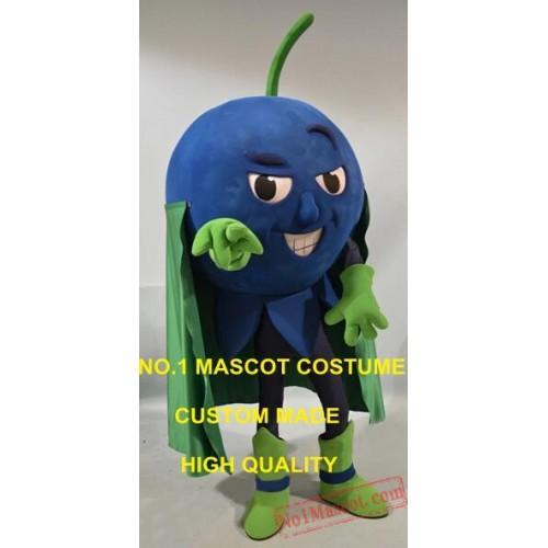 Cool Superman Blueberry Mascot Costume