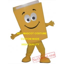Yellow/Blue/Red Recycled Notebook Book Mascot Costume