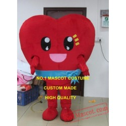 Valentine's Day Warmly Red Heart Mascot Costume