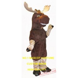 Happy Moose Mascot Costume