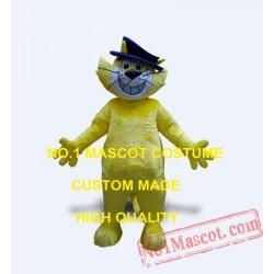 Yellow Top Cat Mascot Costume
