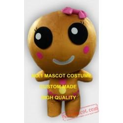 Professional Custom Wholesale Ginger Bread Girl Mascot Costume