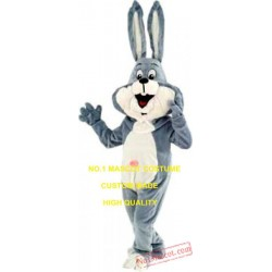 Anime Cosply Costumes New Long Ear Grey Rabbit Mascot Costume