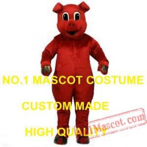 Custom Anime Cosply Costumes Red Pig Hog Mascot Costume