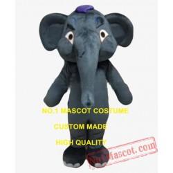 Big Dack Grey Elephant Mascot Costume