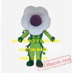 White Flower Mascot Costume
