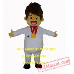 Gold Medal Chef Mascot Costume