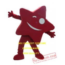Newest Custom Hot Sale Happy Red Star Mascot Costume