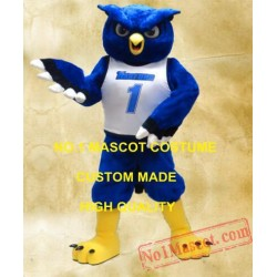 Blue Night Owl Mascot Costume