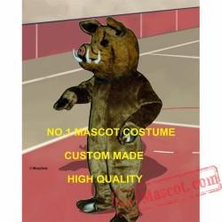 Professiona Custom Fur Wild Boar Mascot Costume