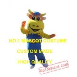 Yellow Cow Mascot Costume