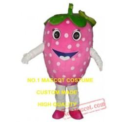 Pink Strawberry Mascot Costume