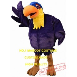 Purple Toucan Mascot Costume