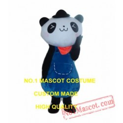 Panda Girl Mascot Costume