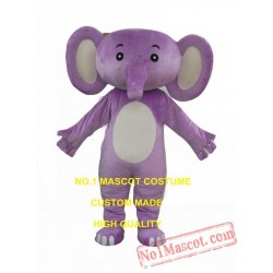 Purple Elephant Baby Mascot Costume