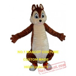 Plush Chipmunk Mascot Costume