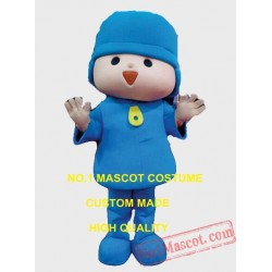 Blue Boy Mascot Costume