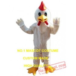 White Chicken Mascot Costume