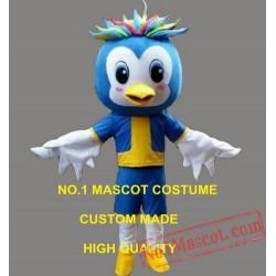 Little Blue Luky Bird Mascot Costume