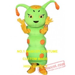 Green Caterpillar Mascot Costume