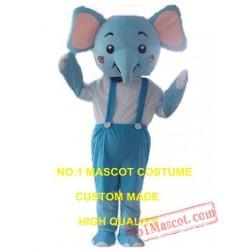 Blue Elephant Mascot Costume