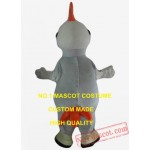 Cool Big White Rooster Mascot Costume