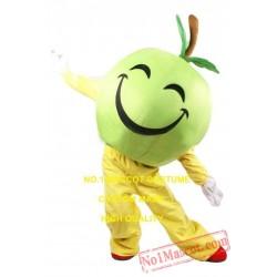 Happy Green Apple Mascot Costume