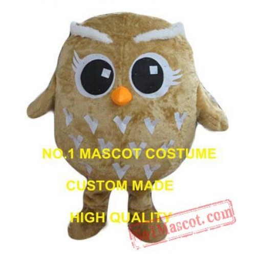 Cute Little Brown Owl Mascot Costume