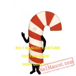 Hot Sale Christmas Candy Cane Mascot Costume