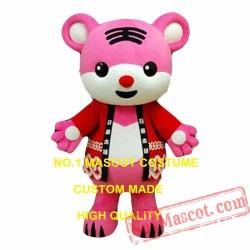 Pink Tiger Mascot Costume