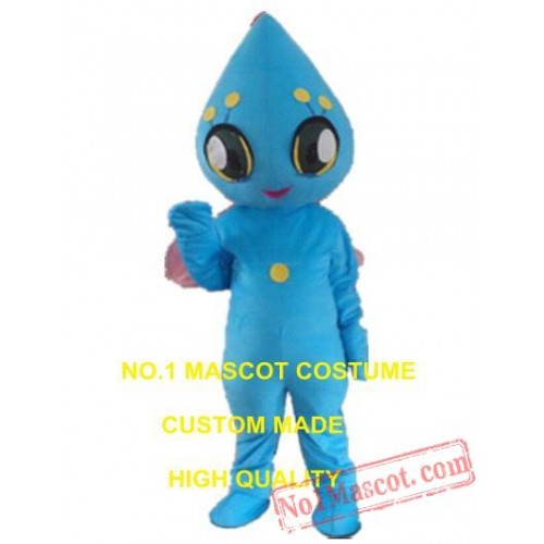Blue Alien Mascot Costume