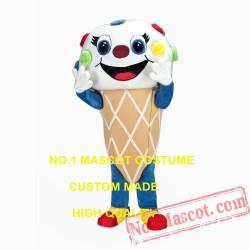 Cute Ice Cream Mascot Costume