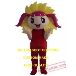 Sun Girl Mascot Costume