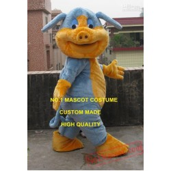 Professional Custom Lovely Blue Pig Mascot Costume