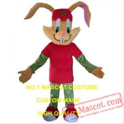 Red Rabbit Mascot Costume