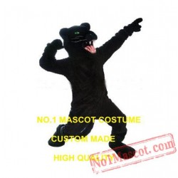 Wild Black Panther Mascot Costume
