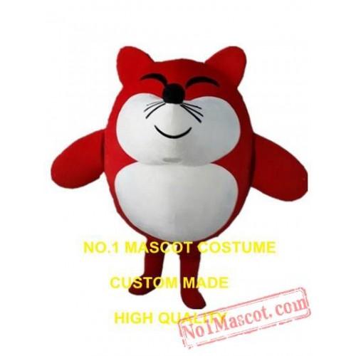 Red Cartoon Fox Mascot Costume