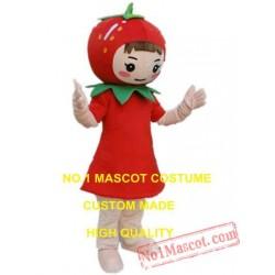Red Strawberry Mascot Costume