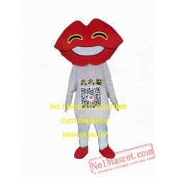 Red Mouth Lips Mascot Costume