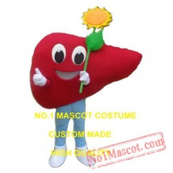 Red Sunflower Mascot Costume