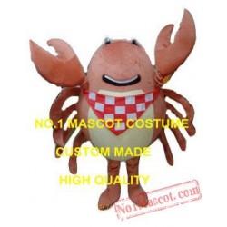 Brown Crab Mascot Costume