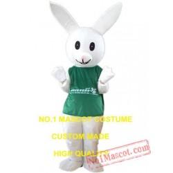 Green Shirt Rabbit Mascot Costume