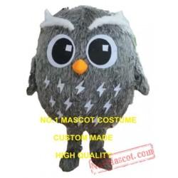 Plush Grey Owl Mascot Costume
