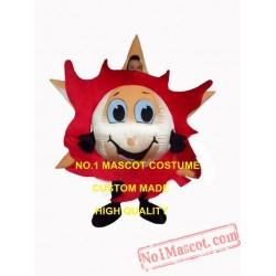 Fire Red Sunny Sun Mascot Costume